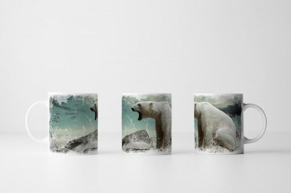 Tasse Brüllender Eisbär