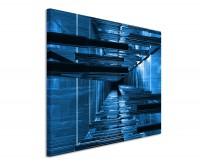 Leinwandbild Architekturfotografie Blaue Streben