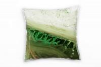 Zierkissen Olivgrün Khaki Weißgrün