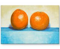 Leinwandbild zwei Orangen