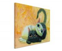 Leinwandbild Zwei Katzen