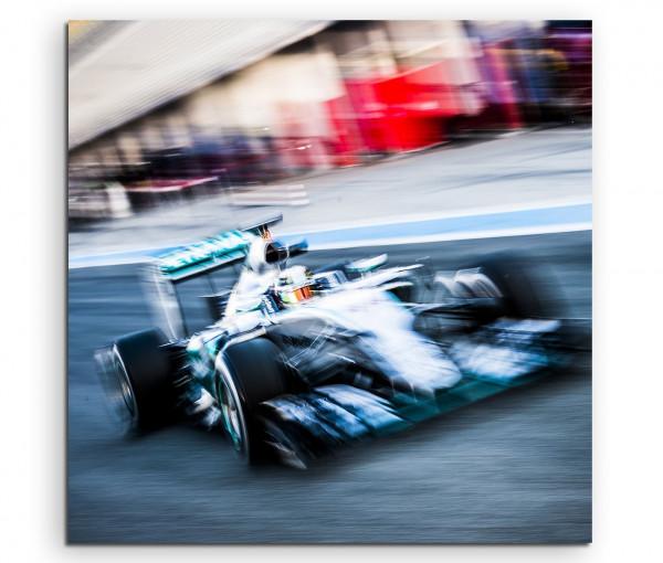 Leinwandbild Formel 1 Rennwagen F1 auf der Rennstrecke