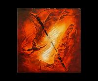 Gemälde abstrakt - Feuertanz