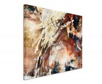 Leinwandbild abstrakt Soft Brown
