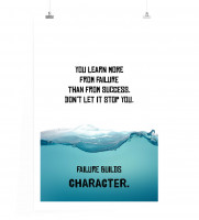 Poster Du lernst mehr aus Misserfolg als aus Erfolg. Lass dich nicht stoppen.