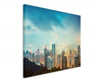 Premium Leinwandbild Hongkong Skyline
