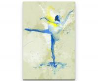 Ballett als Premium Leinwandbild