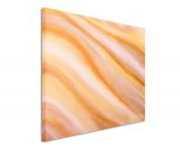 Leinwandbild abstraktes Bild orange Wave