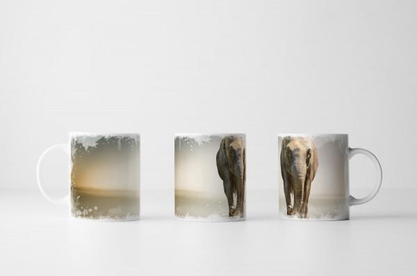 Tasse Hochwertige Aufnahme eines Elefanten