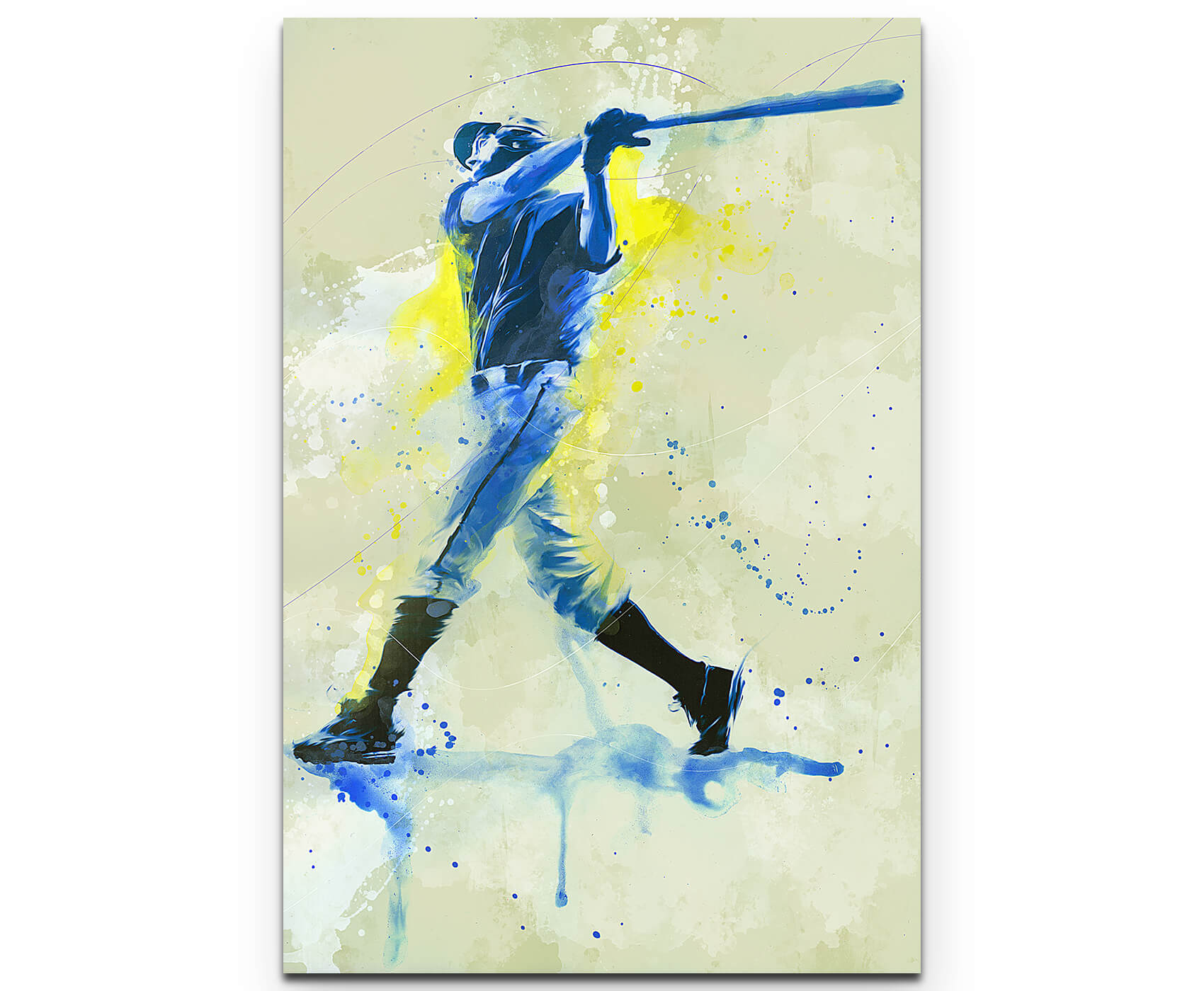 Baseball IV als Premium Leinwandbild | Splash Art Sport | HouseArt ...