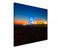 Leinwandbild Santa Monica Pier Kalifornien bei Nacht