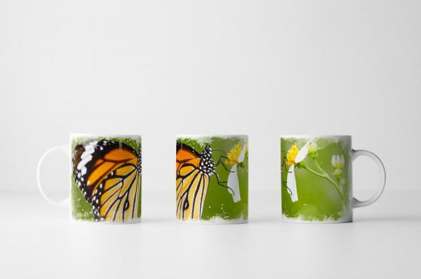 Tasse Gemeines Tigerauge Schmetterling