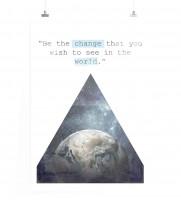 Poster Sei der Wandel