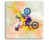 Leinwandbild Sportbild Motorrad I Xgames Splash Art