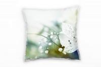 white Flower Deko Kissen