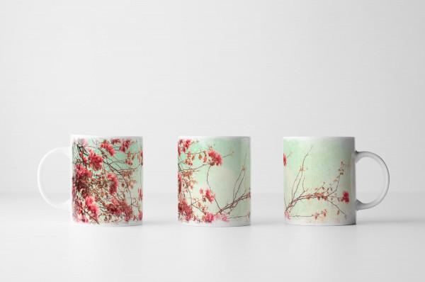 Tasse Vintage Kirschblüten