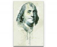 Benjamin Franklin als Premium Leinwandbild