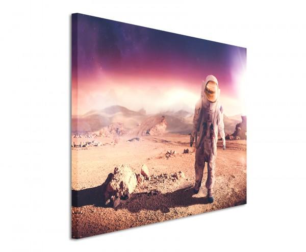Premium Leinwandbild Astronaut auf Planet