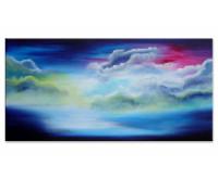 Gemälde abstrakt - blue clouds