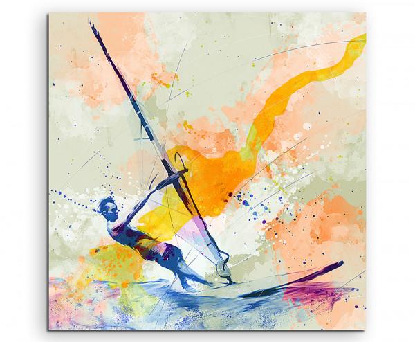 Windsurfer III Splash Art Mann surft auf dem Meer