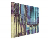 Leinwandbild Abstraktes Bild blau