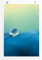 Poster abstrakt - Blue Waterdrop