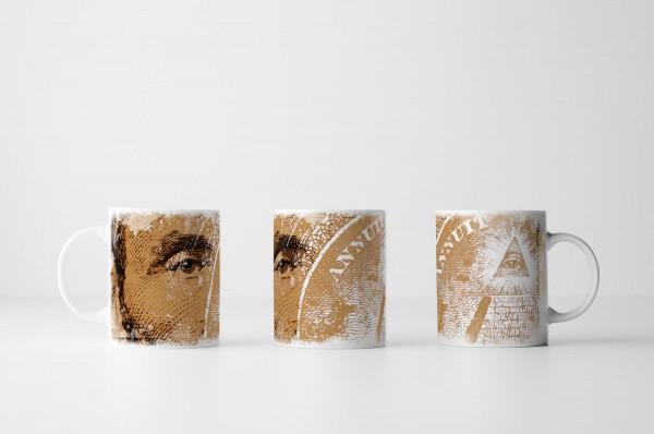 Tasse Dollarnote mit Lincoln