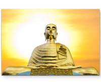 Premium Leinwandbild große Buddha-Statue