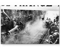 Premium Leinwandbild Autorennen der 20er