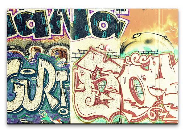 Leinwandbild Graffiti Hanoi