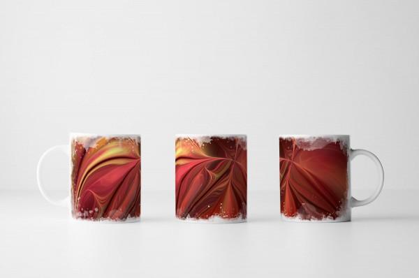 Tasse Rotes Farbenmeer