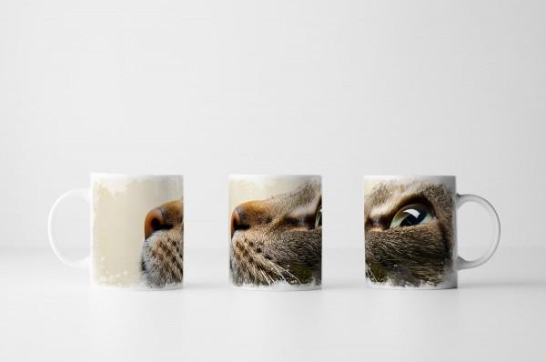 Tasse Aufschauender Katzenkopf