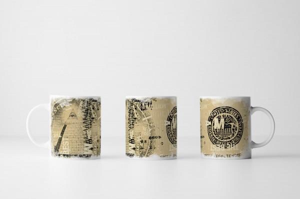 Tasse Beige Dollarnote