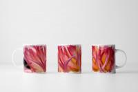 Tasse  Rosa Spitzenblüten
