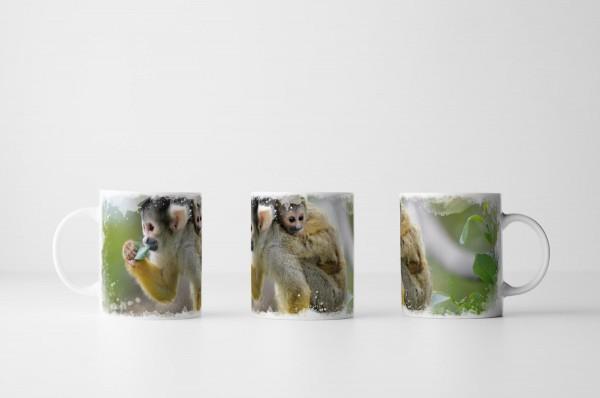 Tasse Affenmutter mit Baby