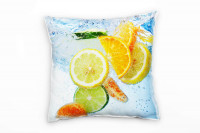 Zitrone und Orange Deko Kissen