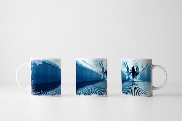 Tasse Fahrsteig in Blau