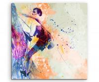 Leinwandbild Sportbild Klettern II Splash Art