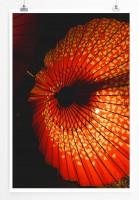 Poster Asiatischer roter Sonnenschirm
