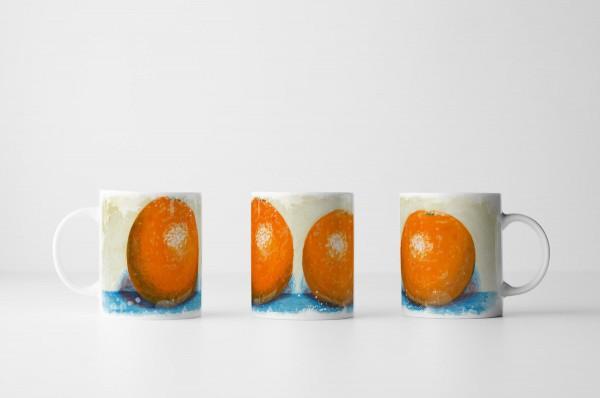 Tasse Stillleben zweier Orangen