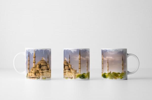 Tasse Blaue Moschee Istanbul Türkei
