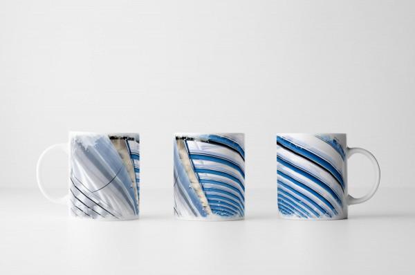 Tasse Stahl und Glas