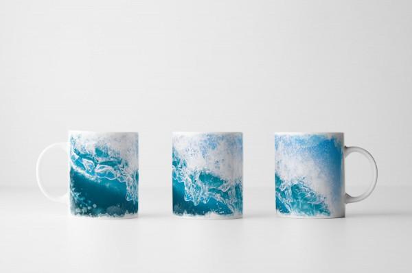 Tasse Türkise Meereswelle