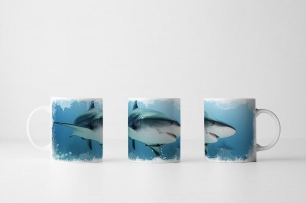 Tasse Weißer Hai in der Karibik