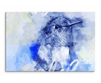 Niedlicher Kolibri als Premium Leinwandbild