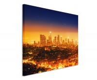 Leinwandbild Los Angeles bei Nacht Kalifornien