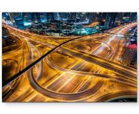 Leinwandbild Straße in Abu Dhabi