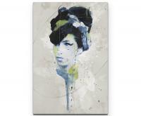 Amy Winehouse als Premium Leinwandbild