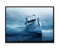 Gestrandetes Fischerboot Kalifornien