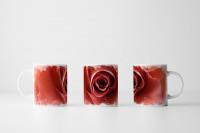 Tasse Lachsfarbene Rose
